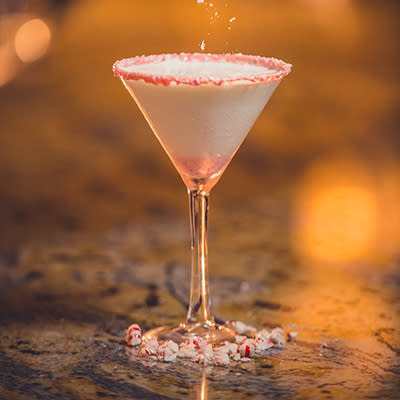 Candy Cane Martini Temecula Chilled