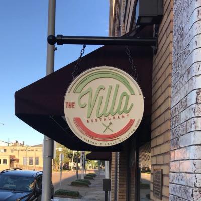 The Villa-exterior sign