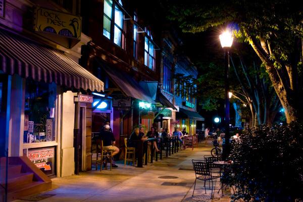 Night Scene of Downtown