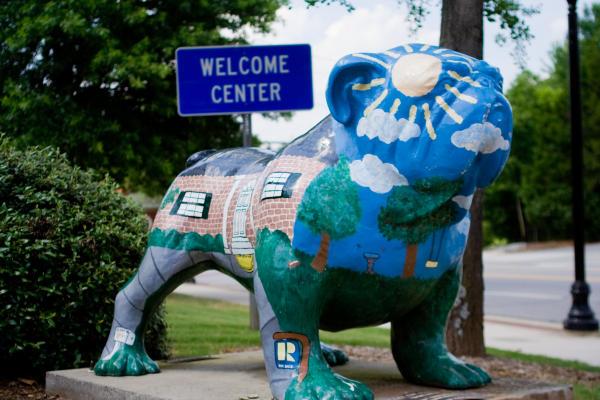 Welcome Center Bulldog