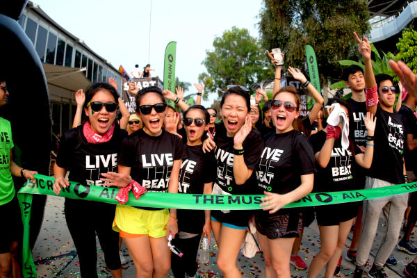 Participants of the international Music Run™. Photo Courtesy of The Music Run™.