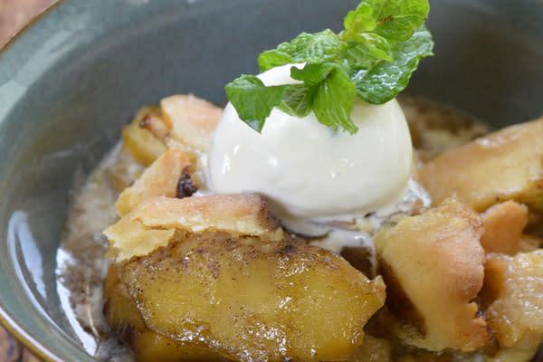 Skillet Apple Cobbler recipe from Flip My Food.