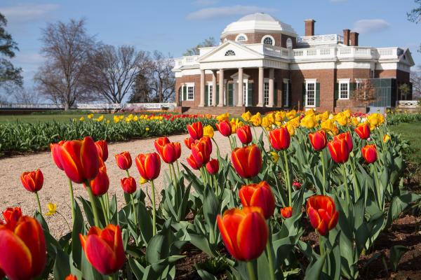Monticello in the spring