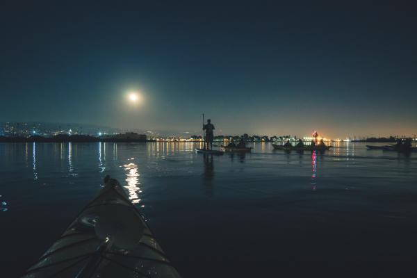 Super Moon Paddle Oakland Estuary