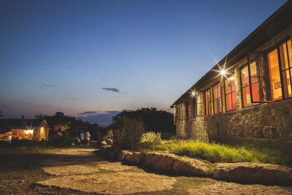 Jester King Brewery exterior at twilight