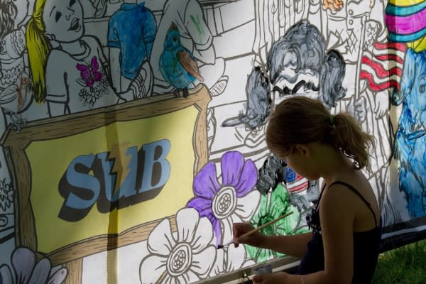 Coloring at Island Park, Springfield by David Putzier