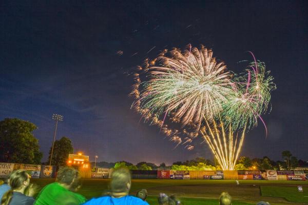 Fireworks at Auburn Doubledays