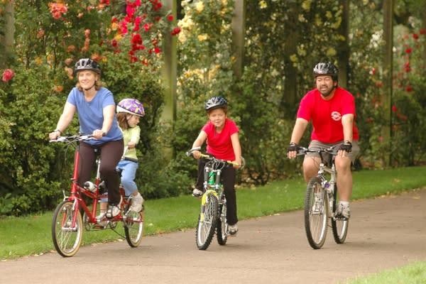 Cycling Family by Timm O'Cobhthaigh