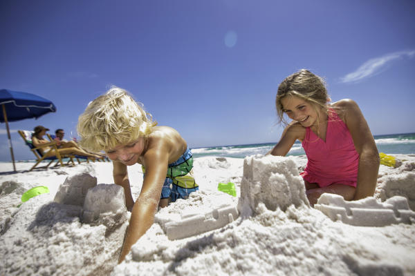 Playing in the sand