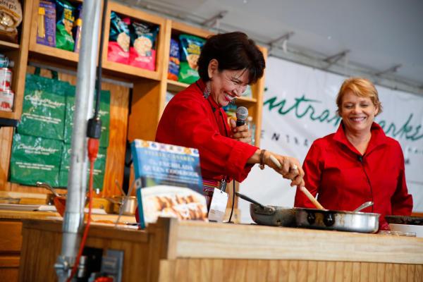 Sylvia Casares cooking at Texas Book Fest