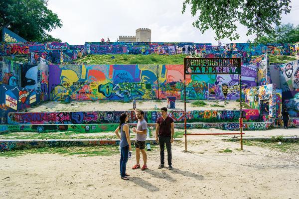 Castle Hill Graffiti Park HOPE Outdoor Gallery