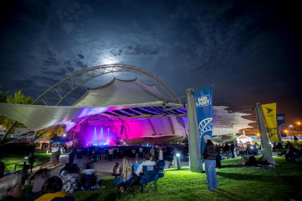 Sprint Pavilion at Night