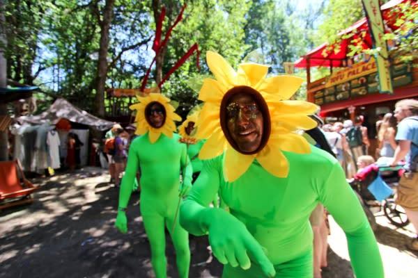 Oregon Country Fair Sunflower by Brittney Reynolds