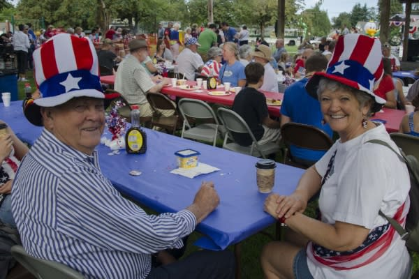 Patriotic Couple by Katie McGuigan
