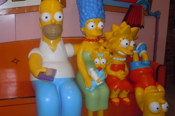 Simpsons at the Springfield Museum by Lisa Lawton