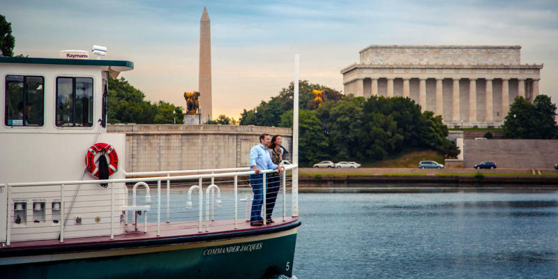 Couple on Water Taxi