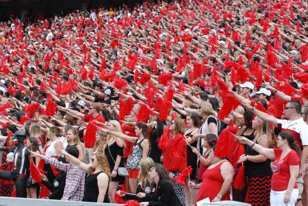 UGA cheering fans