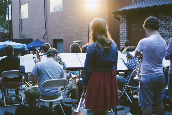 UWEC Jazz on the Outdoor Patio at The Plus in Eau Claire, Wisconsin