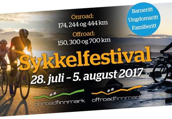 Bike/Fahrrad-Festival Onroad und Offroad Finnmark 28. Juli - 5. AUGUST 2017