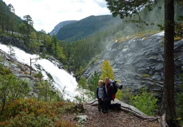 Rjukanfossen waterfall