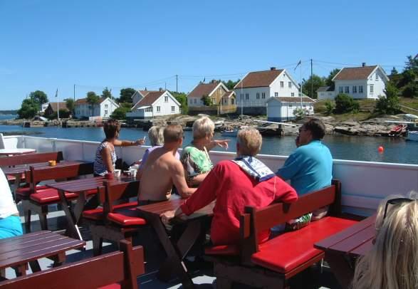Faste sightseeingturer med MS Nidelv