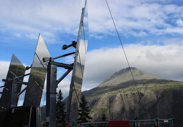 The Giant Sun Mirrors in Rjukan