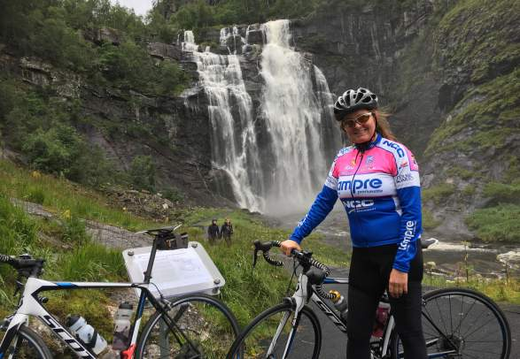 Bike the Fjords - Skjervsfossen waterfall