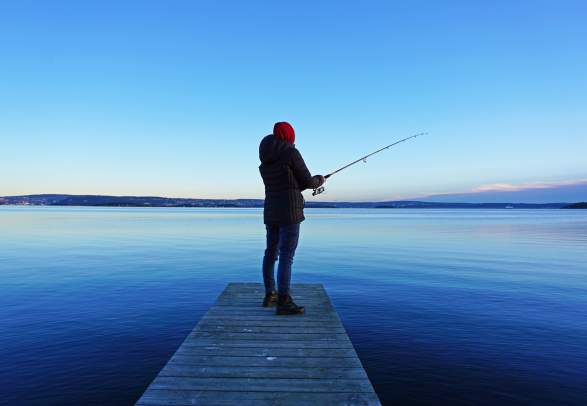 Fishing in the Oslo Fjord