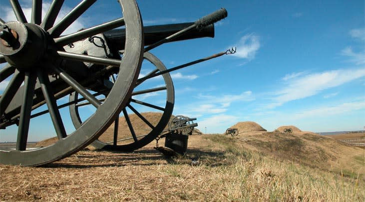 Cannons at the Fort Fisher State Historic Site