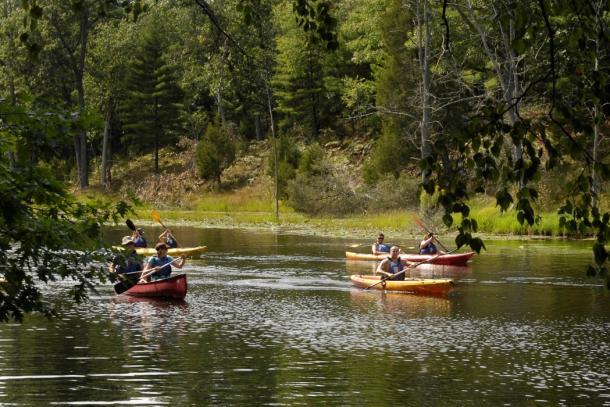 People canoeing and kayaking in Sarnia
