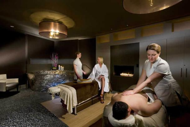 Spa with people