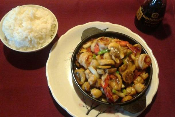 Suki Yaki Rice and Shrimp