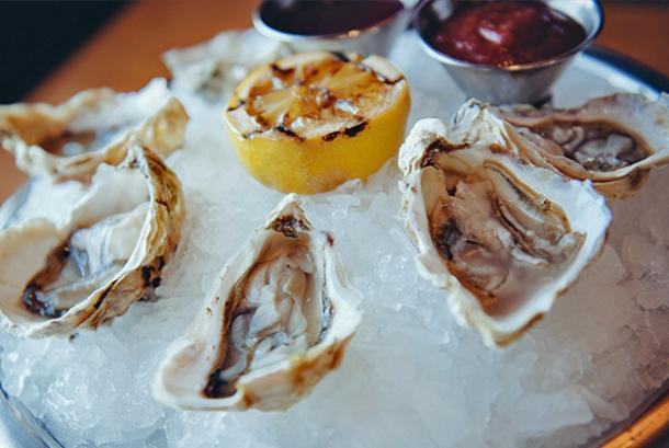 Clinkerdagger - Oysters on the Halfshell with Charred Lemon