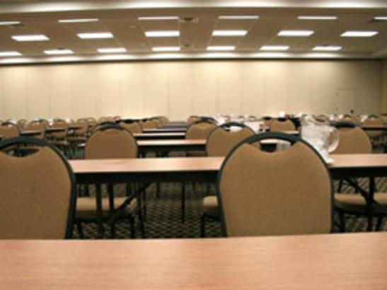 Classroom Set Up in Half of the Ballroom