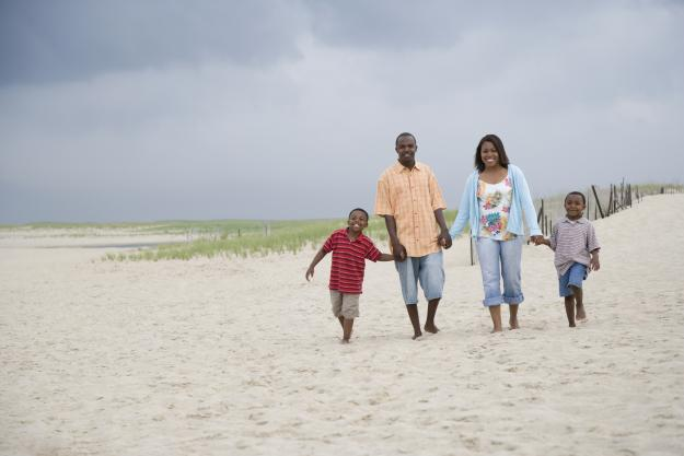 Family on the Beach   Lake Charles, LA