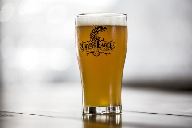Crying Eagle IPA in a glass