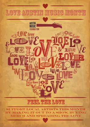 Love austin music flyer
