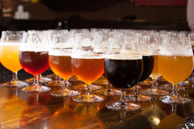 Assortment of beer at Falling Rock in Denver