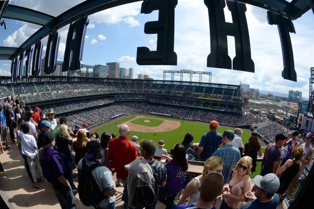 A view from The Rooftop at Coors Field