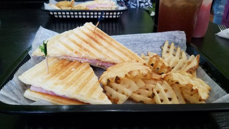 Ham and Cheese Panini at the Waffle Whitch in Martinsville.