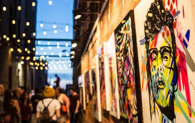 It's Art - in an alley.
