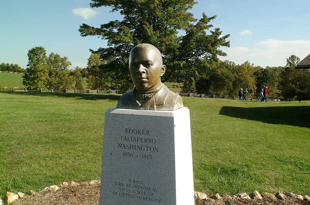 Statue at Booker T. Washington National Monument