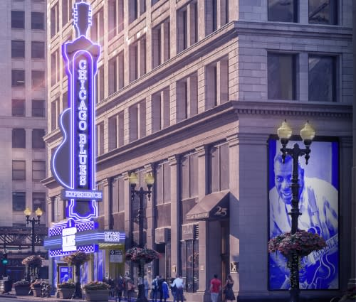 Rendering of Chicago Blues Experience museum
