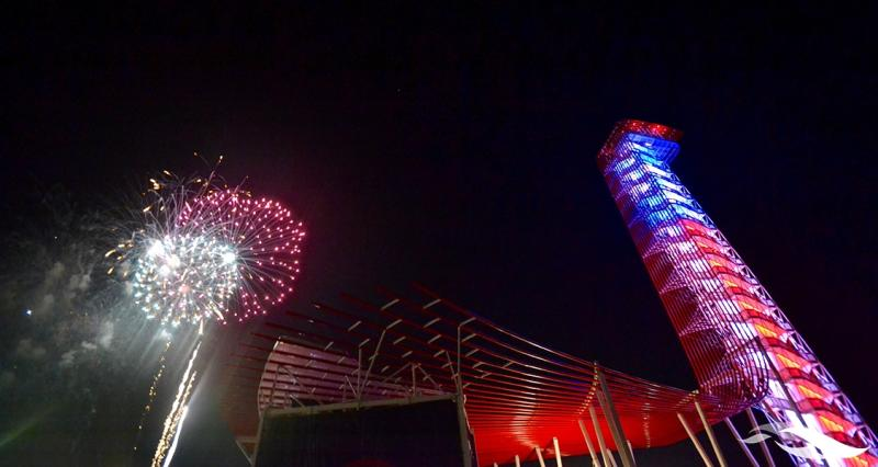 Fireworks at COTA for Willie Nelsons fourth of July Picnic