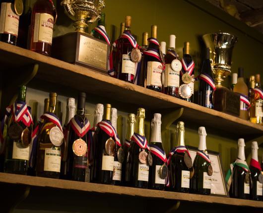 Pinnacle Ridge Winery - awarded bottles
