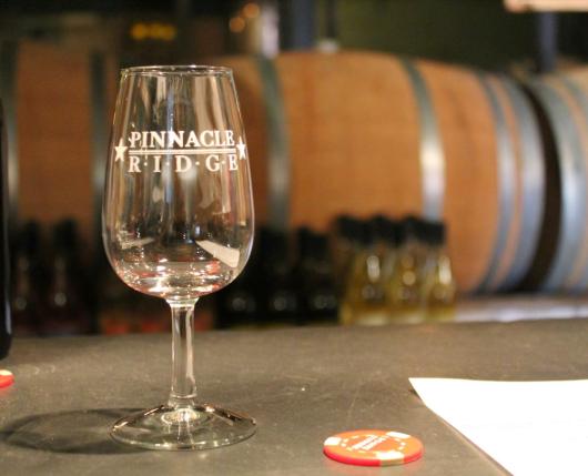 Pinnacle Ridge Winery - wine tasting glass