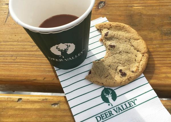 Chocolate Chip Cookie and Hot Chocolate at Deer Valley Resort