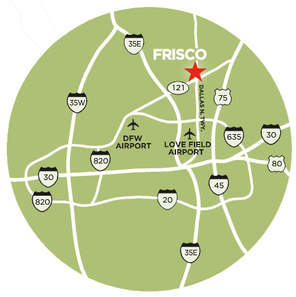 Frisco DFW Airport Map