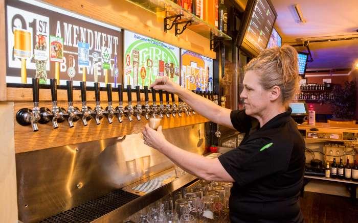 Careys Brew House tap line