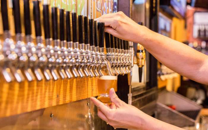 Careys Brew House tap line fill